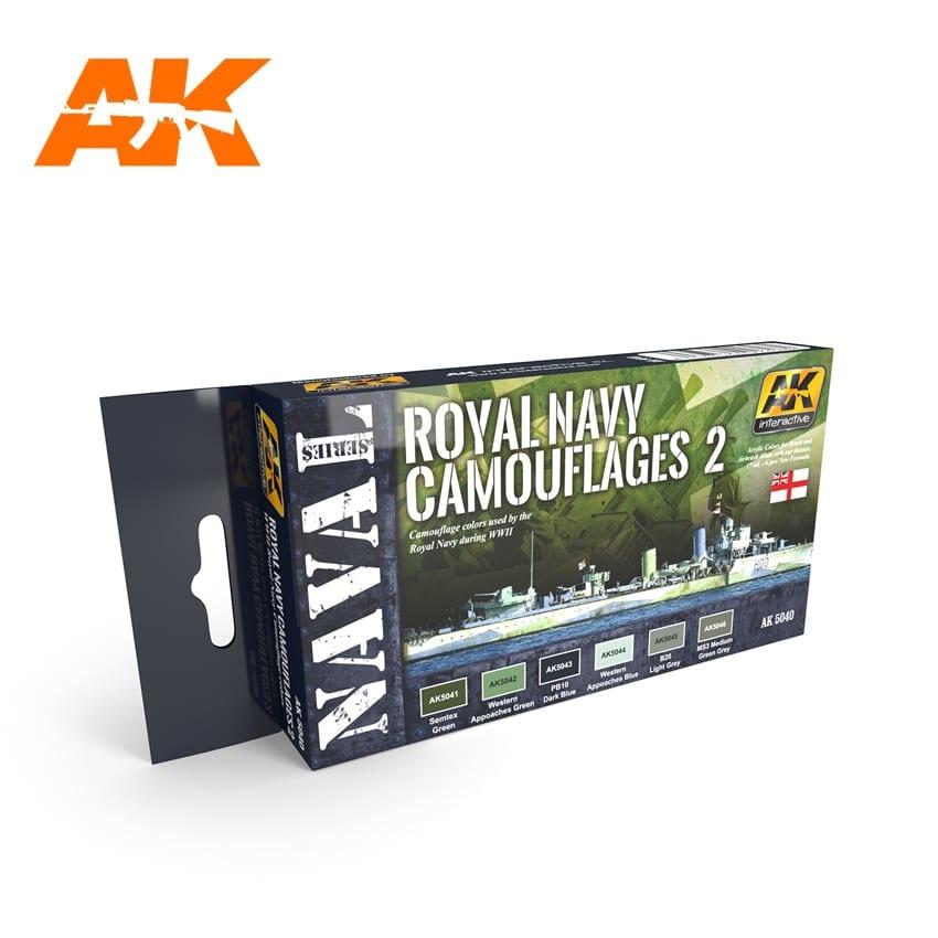 AK-Interactive Royal Navy Camouflages 2 Set - AK-5040