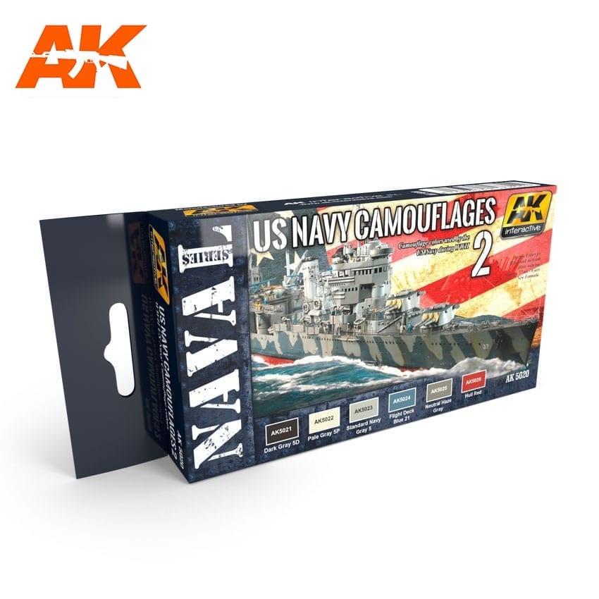 AK-Interactive Us Navy Camouflage Vol. 2 Set - AK-5020