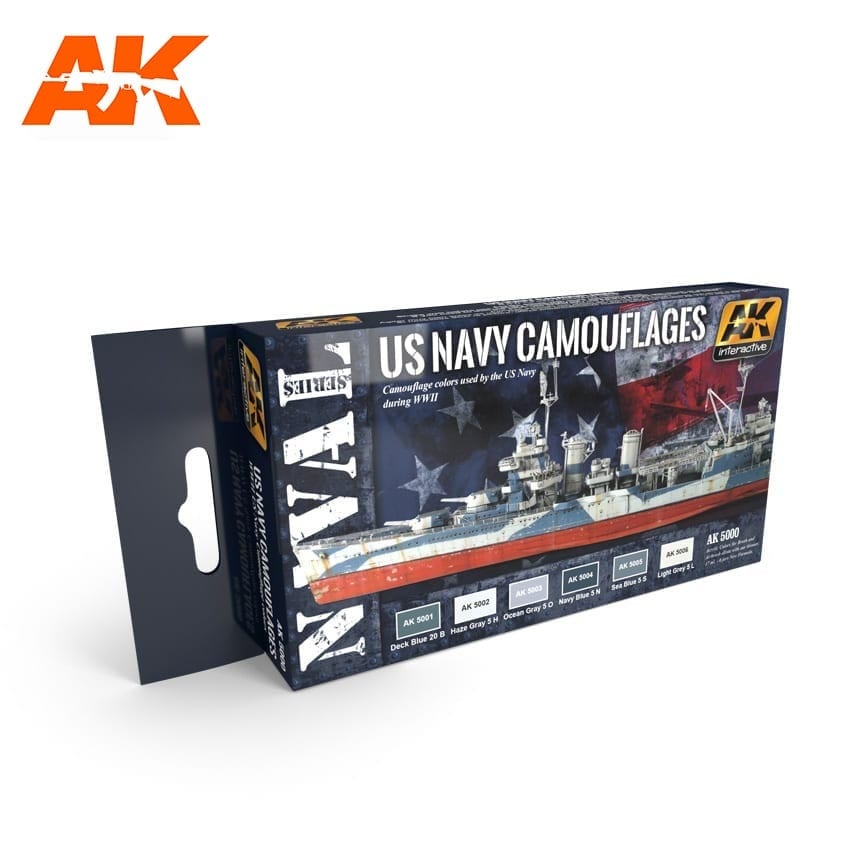 AK-Interactive Us Navy Camouflages Set - AK-5000