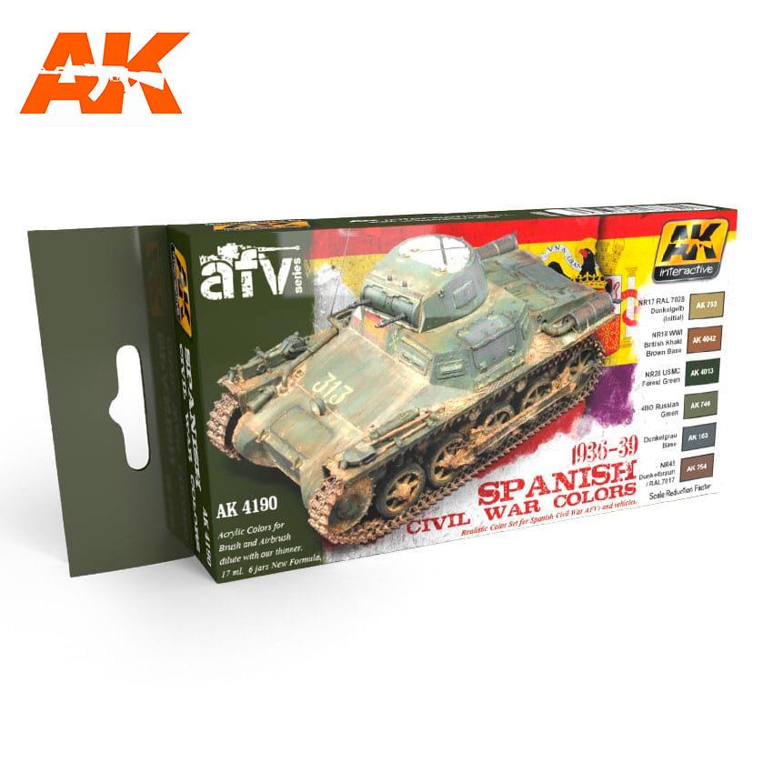 AK-Interactive 1936-1939 Spanish Civil War Colors  Set - AK-4190