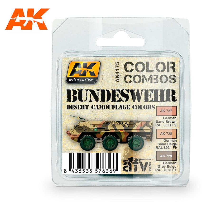 AK-Interactive Bundeswehr Desert Camouflage Colors Combo Set - AK-4175