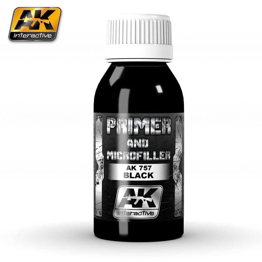 AK-Interactive Black Primer And Microfiller - 100ml - AK-757