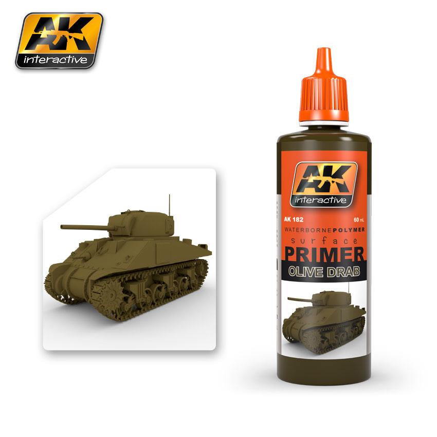 AK-Interactive Olive Drab Primer - 60ml - AK-182