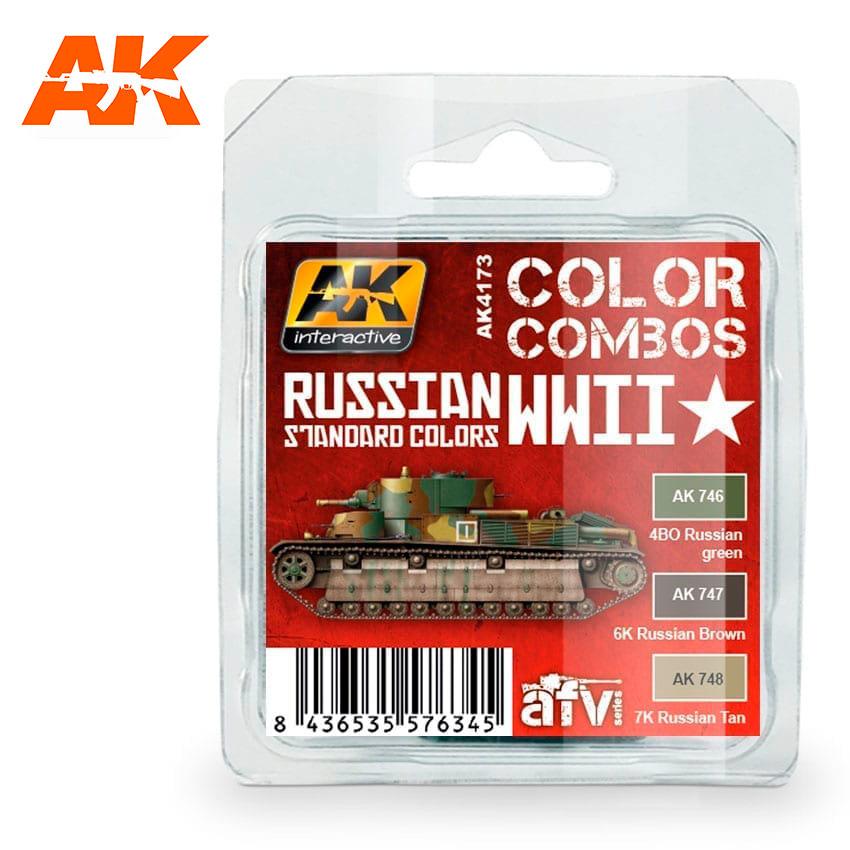AK-Interactive Russian Wwii Standard Colors Combo Set - AK-4173
