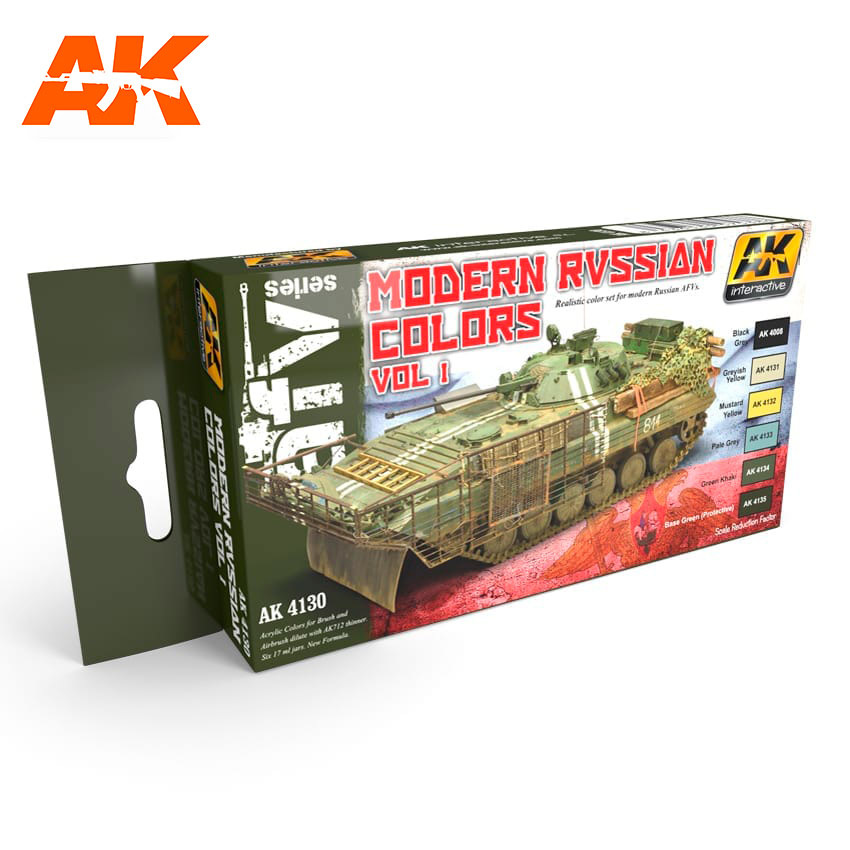 AK-Interactive Modern Russian Colours Vol.1 Set - AK-4130