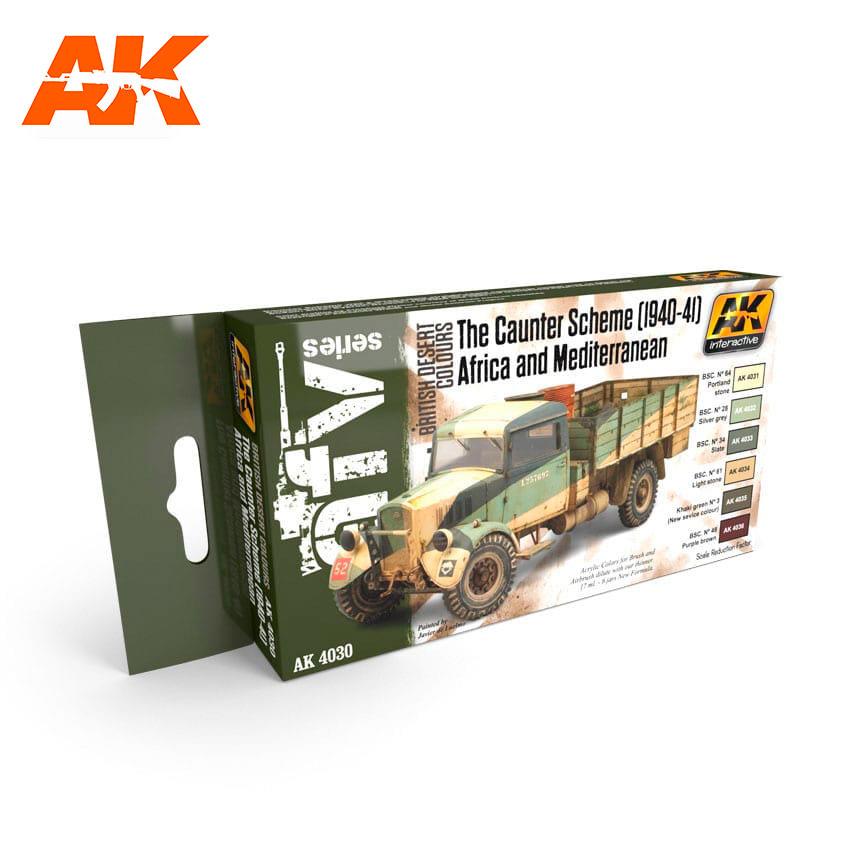 AK-Interactive The Caunter Scheme (1940-41) Africa And Mediterranean Set - AK-4030