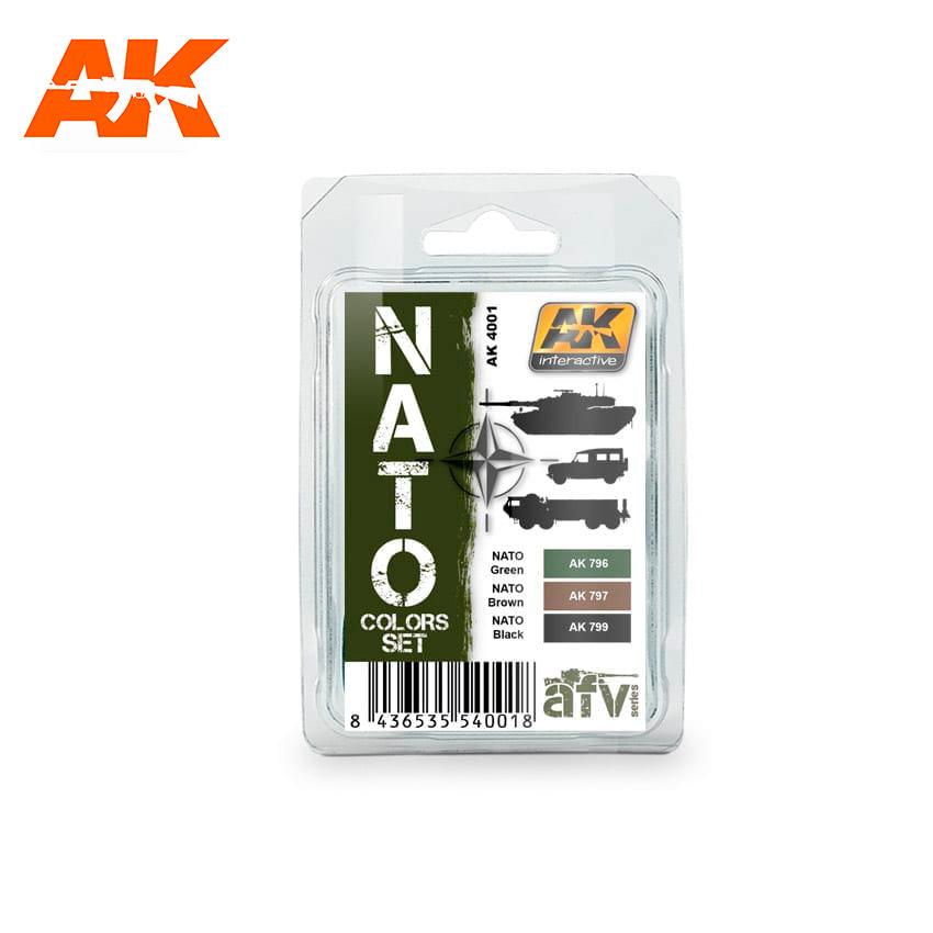 AK-Interactive Nato Colors Set - AK-4001