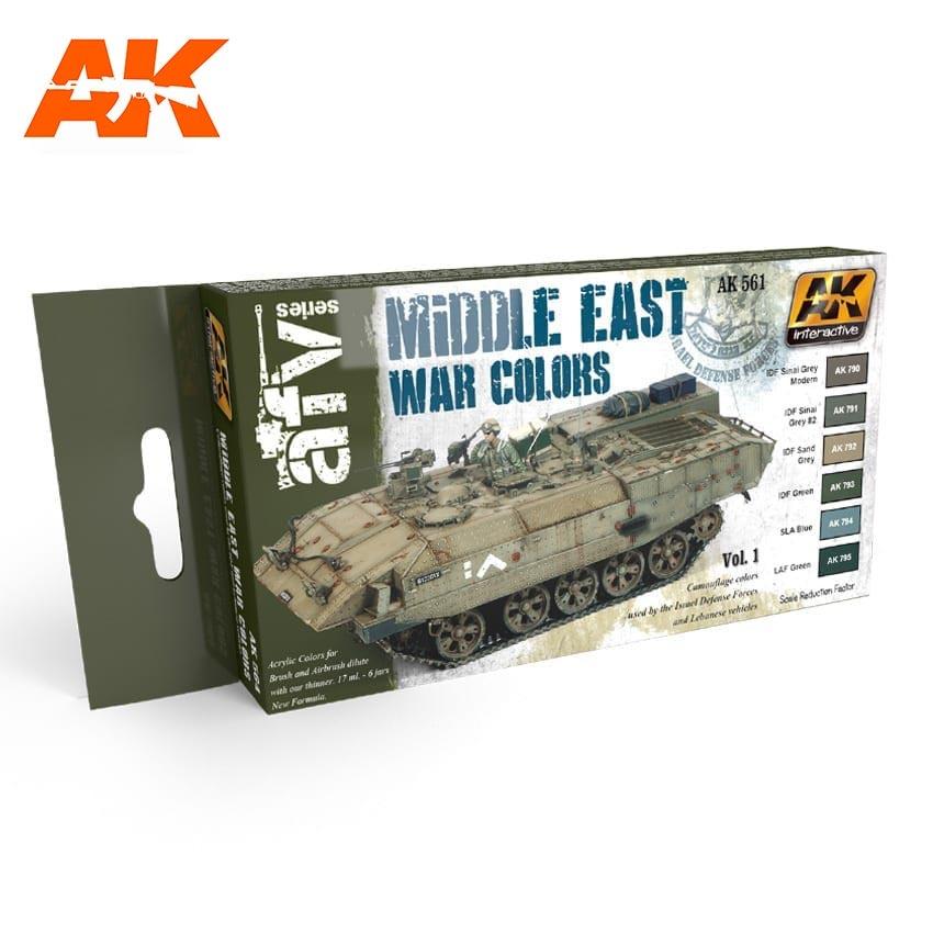 AK-Interactive Middle East War Vol.1 Colors Set - AK-564