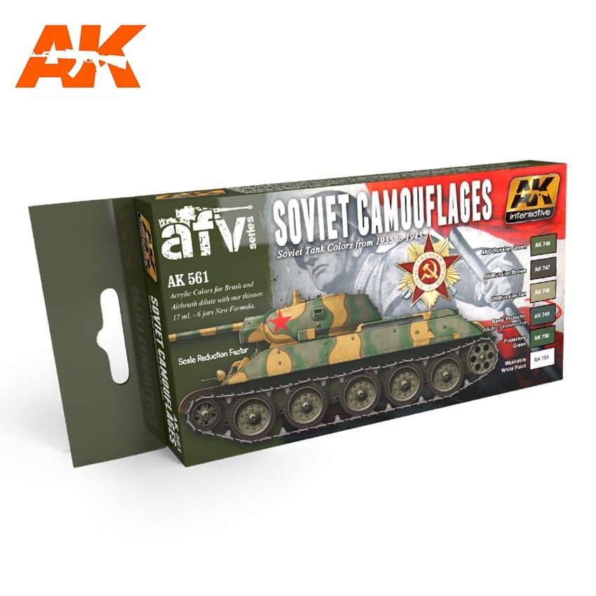 AK-Interactive Soviet Camouflages Colors Set - AK-561