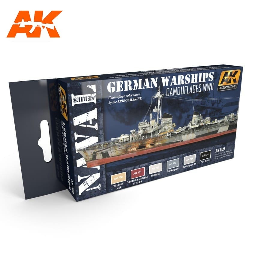 AK-Interactive German Warships Colors Set - AK-559