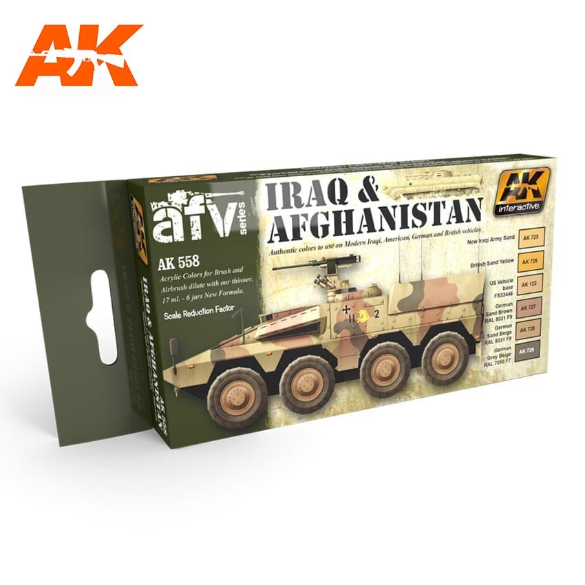 AK-Interactive Iraq & Afghanistan Colors Set - AK-558