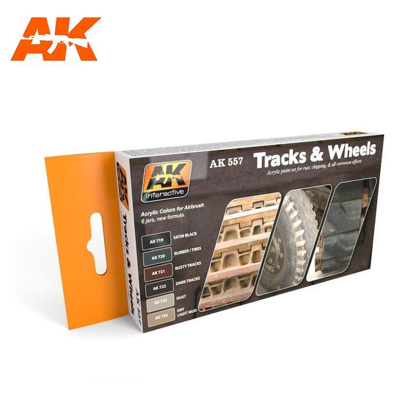 AK-Interactive Track And Wheels Colors Set  - AK-557