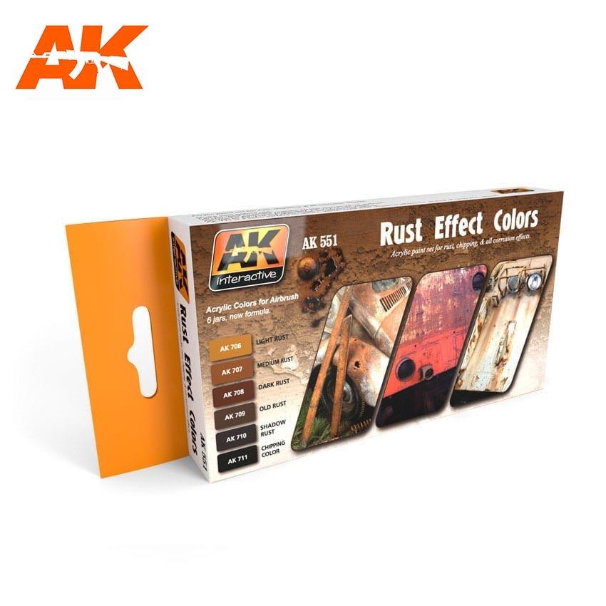 AK-Interactive Rust Effects Colors Set - AK-551