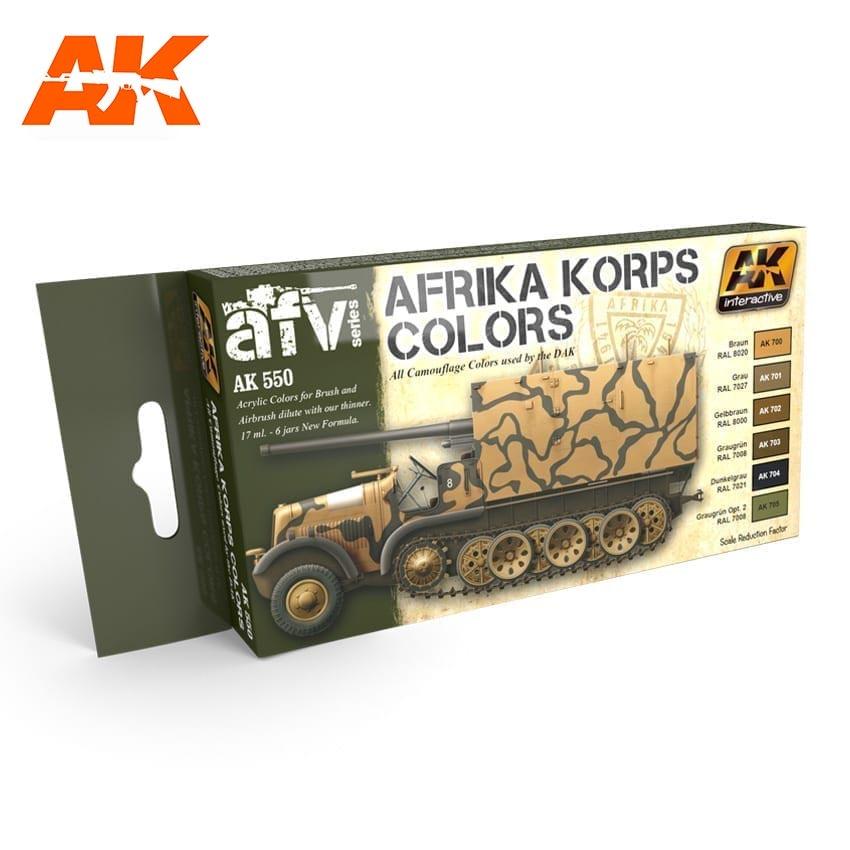 AK-Interactive Afrika Korps Colors Set - AK-550