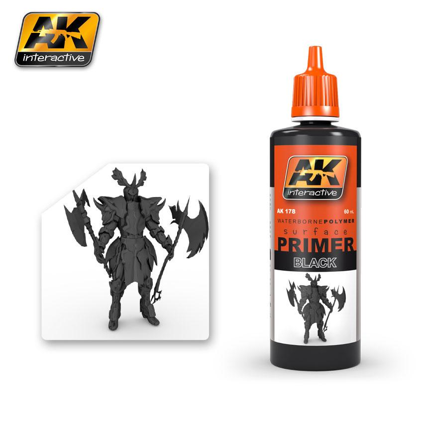 AK-Interactive Black Primer - 60ml - AK-178