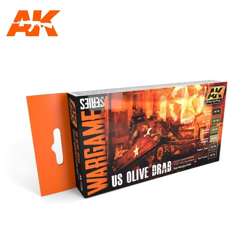 AK-Interactive Us Olive Drab Colors Set - AK-1131