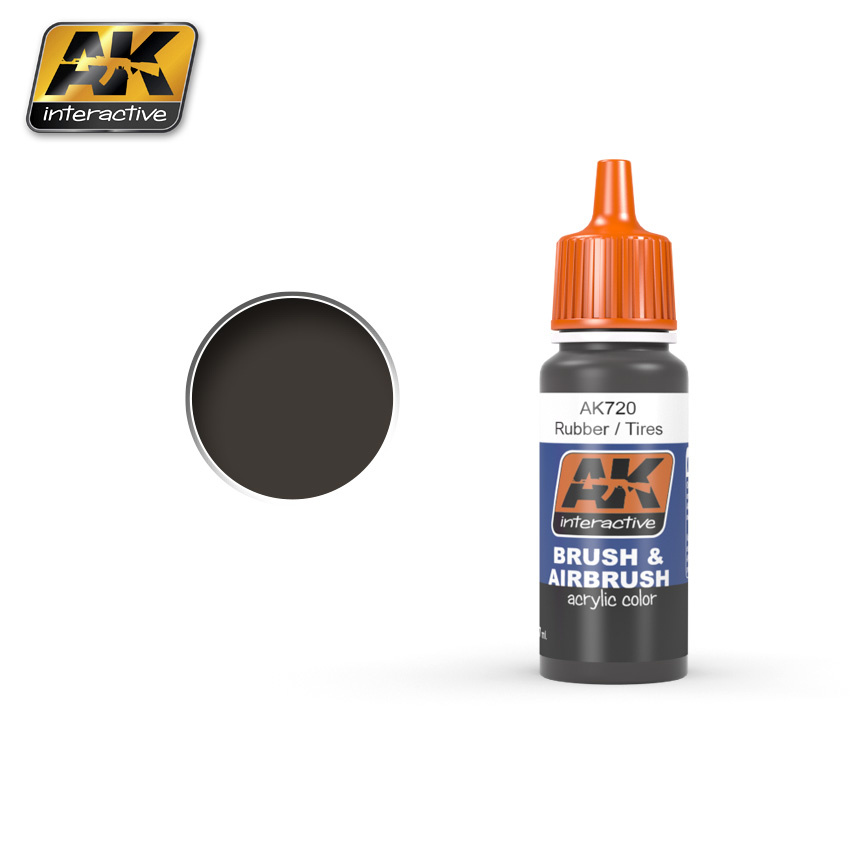 AK-Interactive Rubber/Tires - 17ml - AK-720