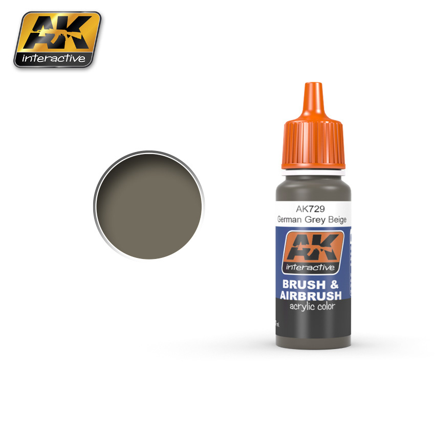 AK-Interactive RAL 7050 F7 German Grey Beige - 17ml - AK-729