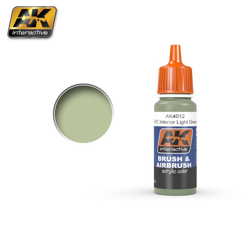AK-Interactive APC Interior Light Green - 17ml - AK-4012