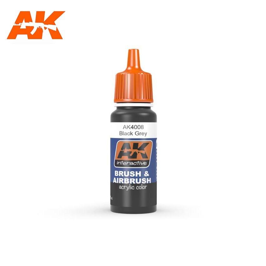 AK-Interactive Black Grey - 17ml - AK-4008