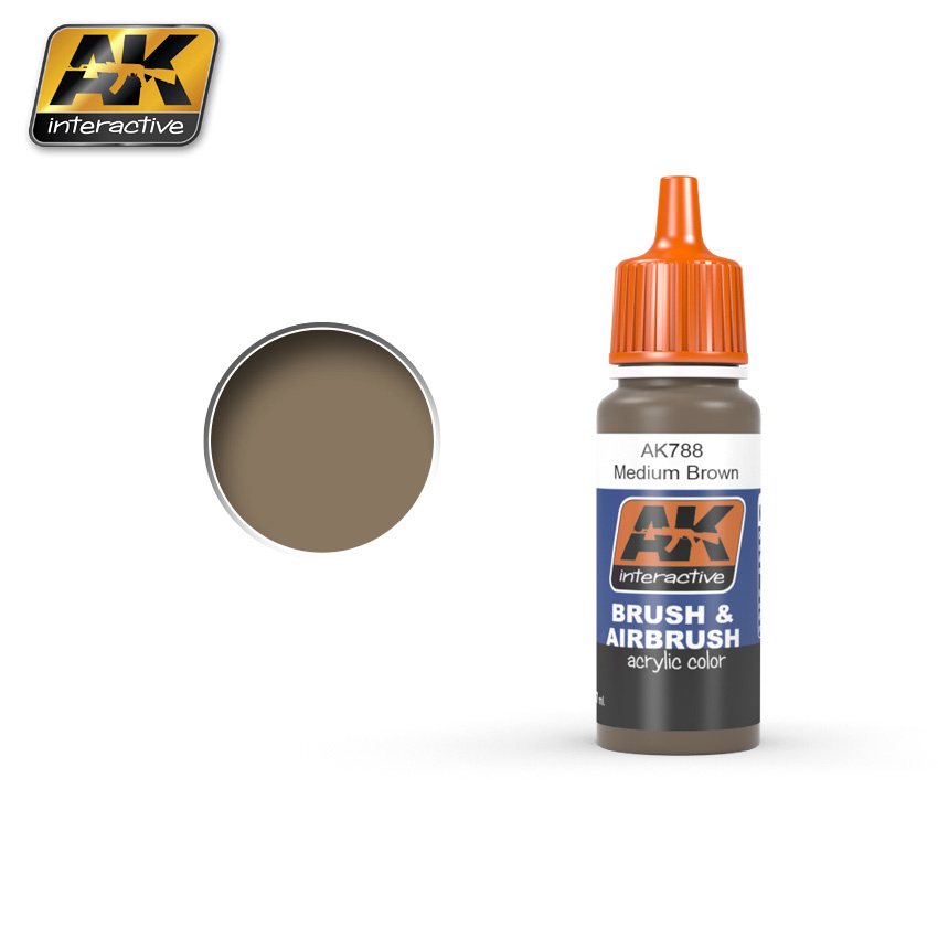 AK-Interactive Medium Brown - 17ml - AK-788