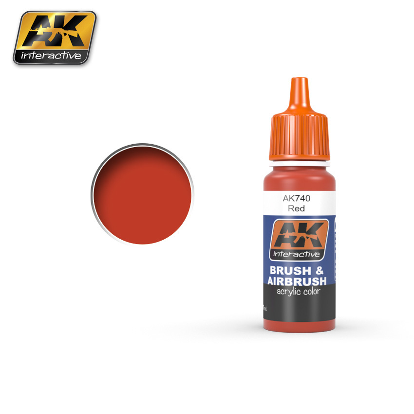 AK-Interactive Red Acrylic Color - 17ml - AK-740