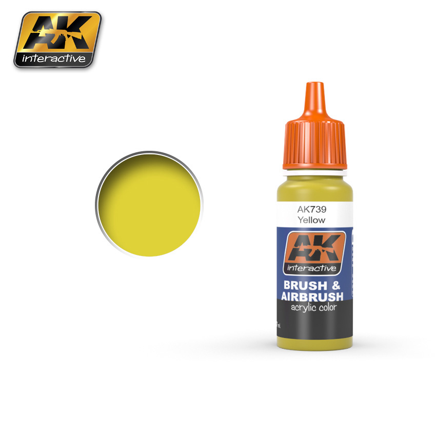 AK-Interactive Yellow Acrylic Color - 17ml - AK-739