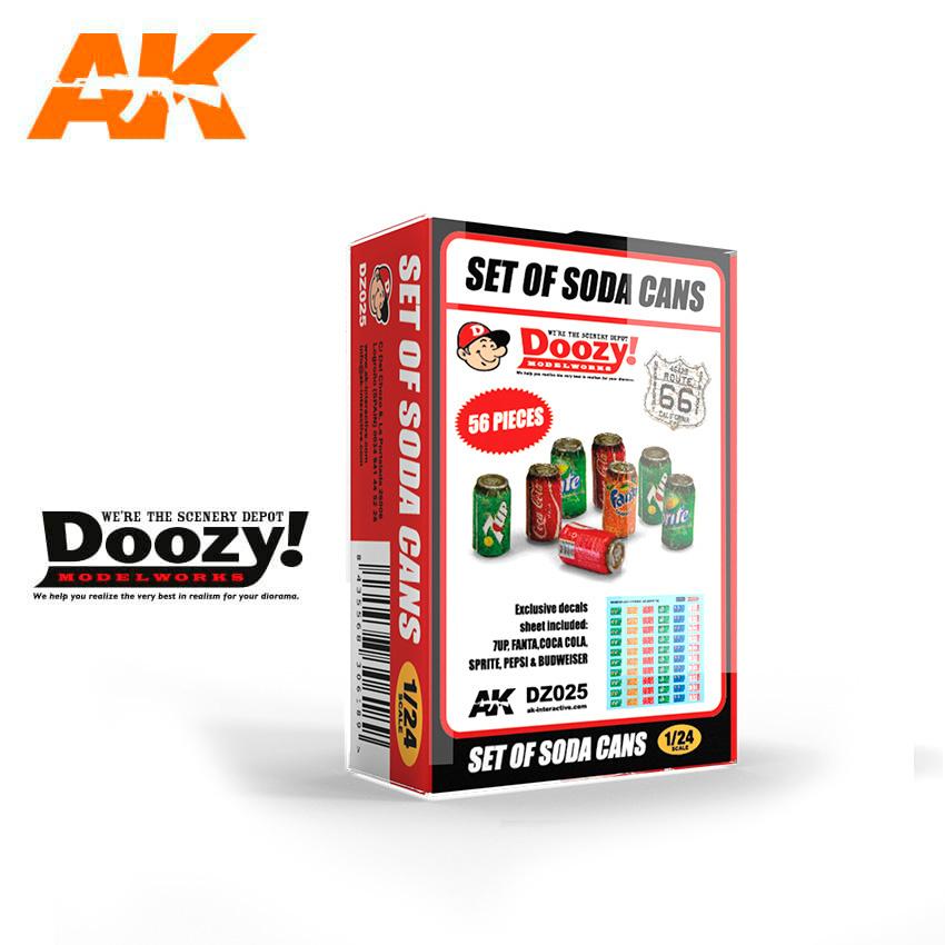 Doozy Set Of Soda Cans - Scale 1/24 - DZ025
