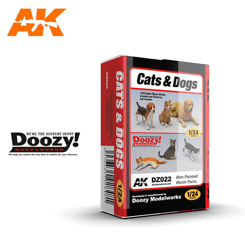 Doozy Cats And Dog - Scale 1/24 - DZ022