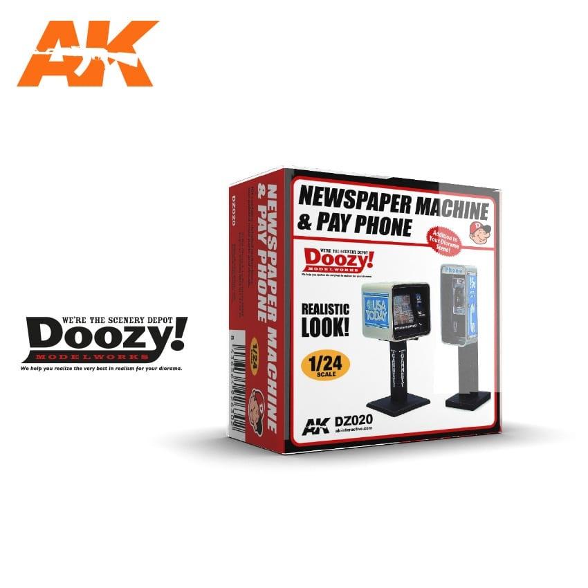 Doozy Newspaper Machine & Pay Phone - Scale 1/24 - DZ020