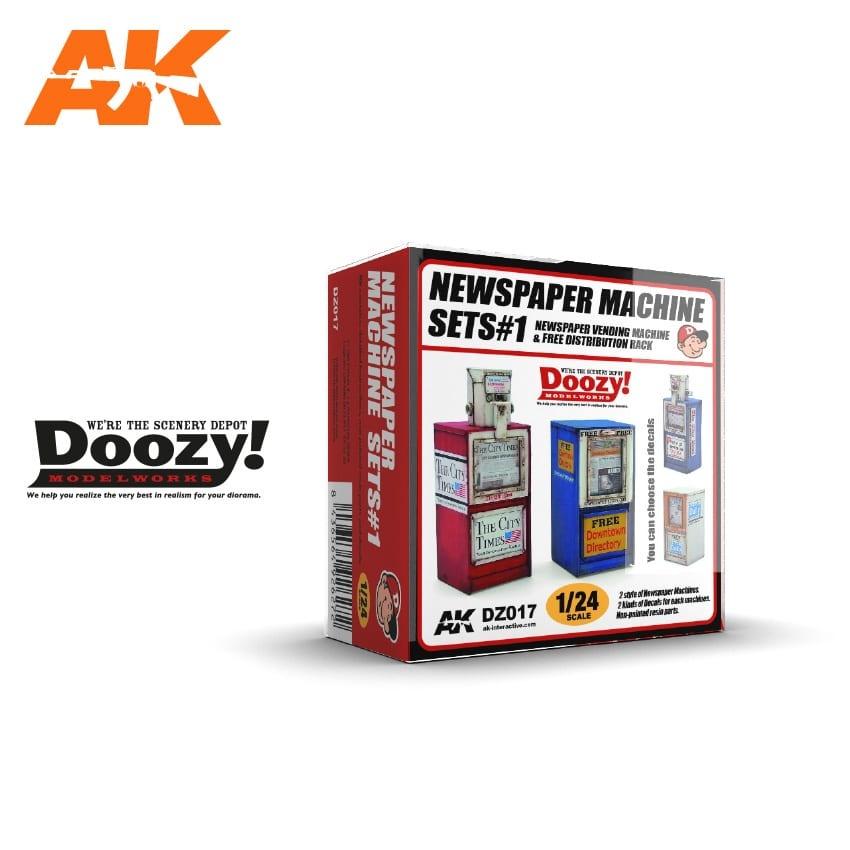 Doozy Newspaper Machine Sets 1 - Scale 1/24 - DZ017