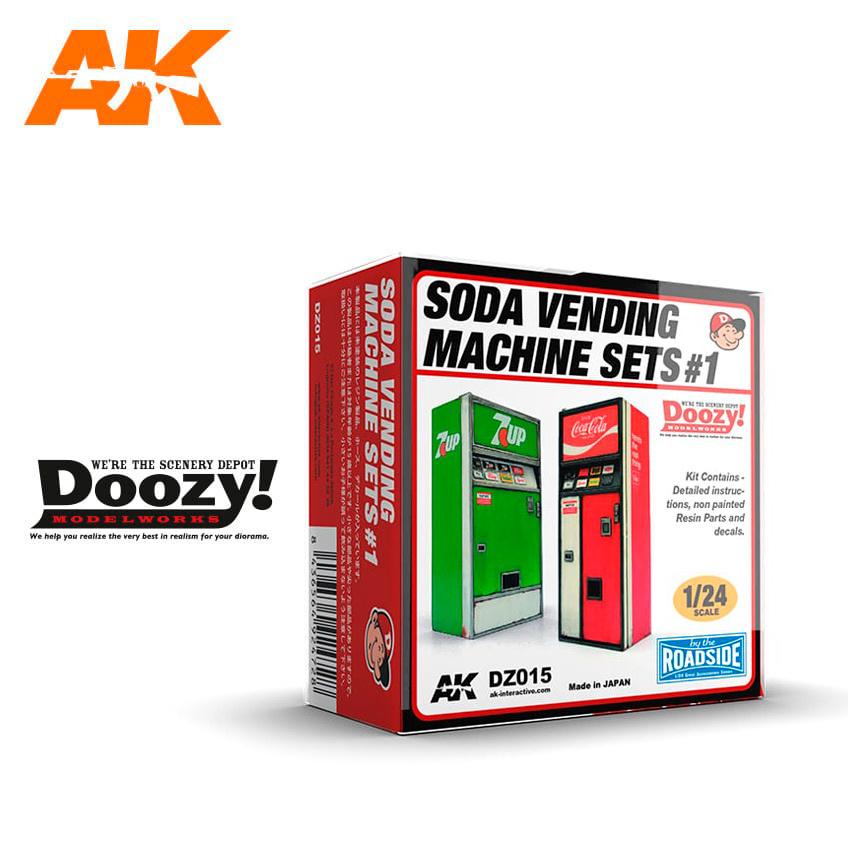 Doozy Soda Vending Machine Set 1 - Scale 1/24 - DZ015