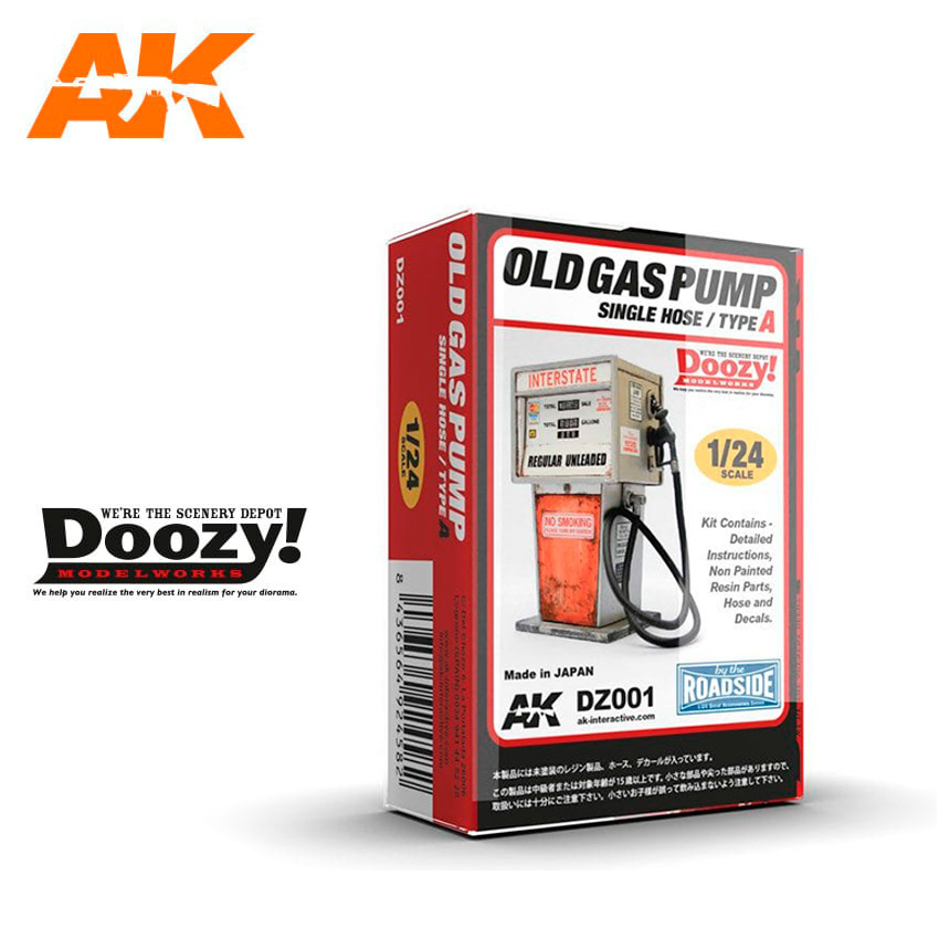 Doozy Old Gas Pump Single Nose / Type A - Scale 1/24 - DZ001