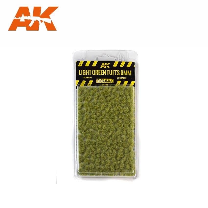 AK-Interactive Light Green Tufts 6mm - AK-8118