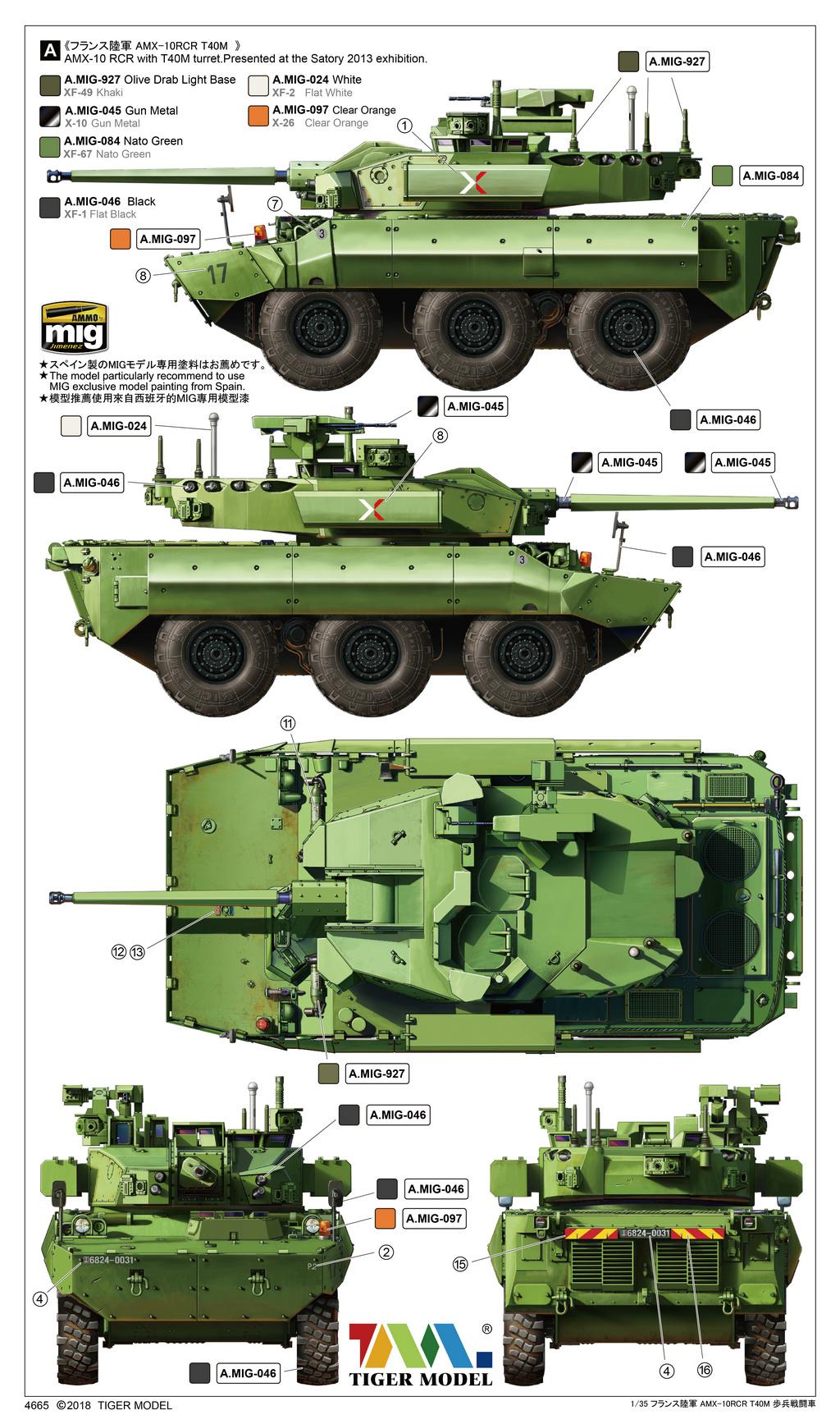 Tiger Model Nexter T40 Ifv - Tiger Model - Scale 1/35 - TIGE4665