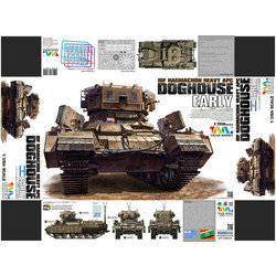 Nagmachon Doghouse-Early - Tiger Model - Scale 1/35 - TIGE4624