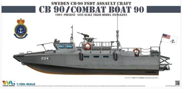 Tiger Model Sweden Cb-90 H Fast Assault Craft - Tiger Model - Scale 1/35 - TIGE6293