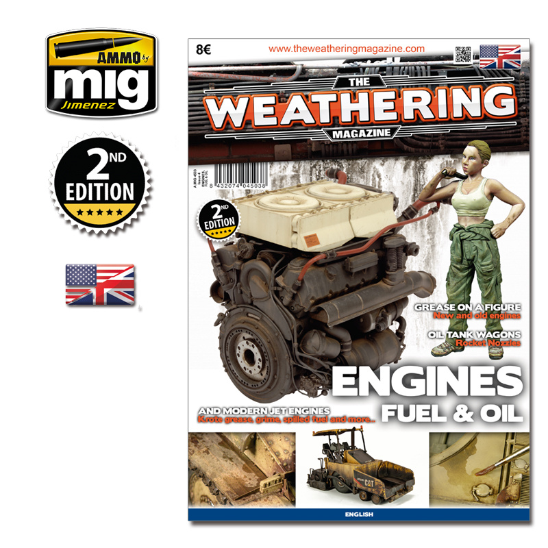 The Weathering Magazine The Weathering Magazine Issue 4. Engines, Fuel And Oil - English - Ammo by Mig Jimenez - A.MIG-4503
