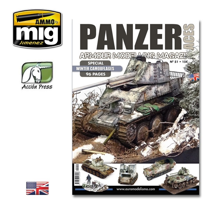 Panzer Aces Panzer Aces #51 (Special Winter Camouflages - 96 Pages) English - PANZ-0051