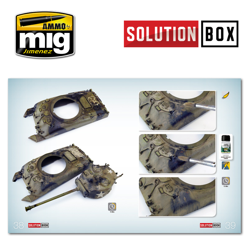 Ammo by Mig Jimenez Solution Book 01 How to Paint WWII American ETO Vehicles 01 - Multilingual Book - A.MIG-6500