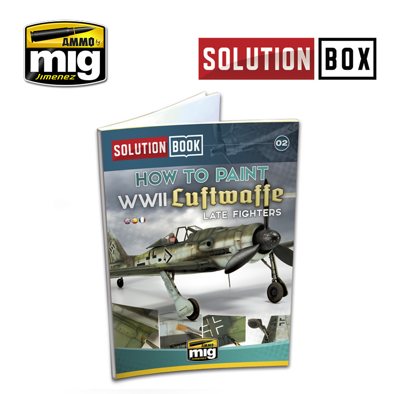 Ammo by Mig Jimenez Solution Book 02 How to Paint WWII Luftwaffe Late Fighters - Multilingual Book