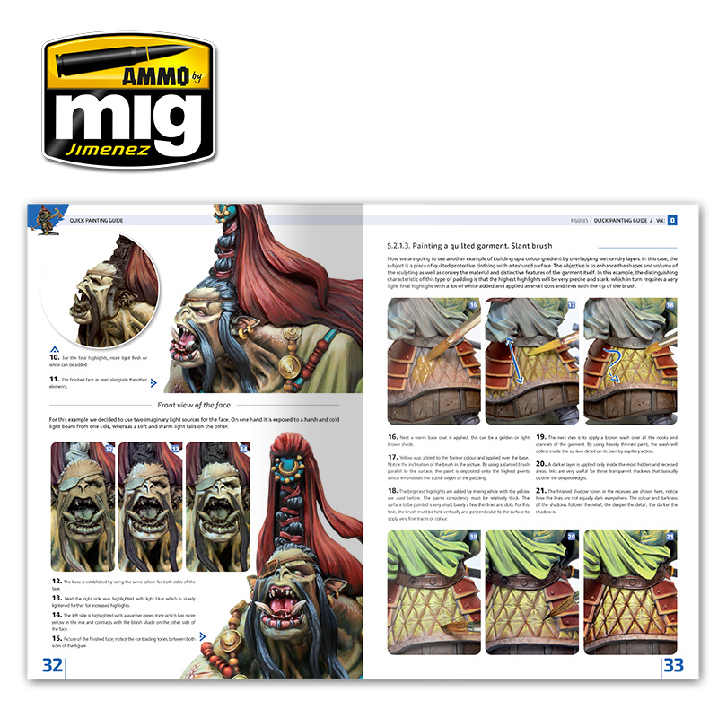 Ammo by Mig Jimenez Encyclopedia Of Figures Modelling Techniques Vol. 0 - Quick Guide For Painting  English - A.MIG-6220