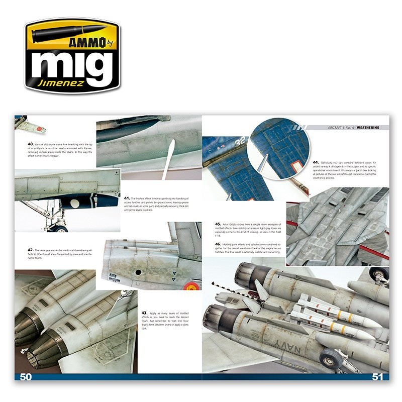 Ammo by Mig Jimenez Encyclopedia Of Aircraft Modelling Techniques - Vol.4 - Weathering English - A.MIG-6053