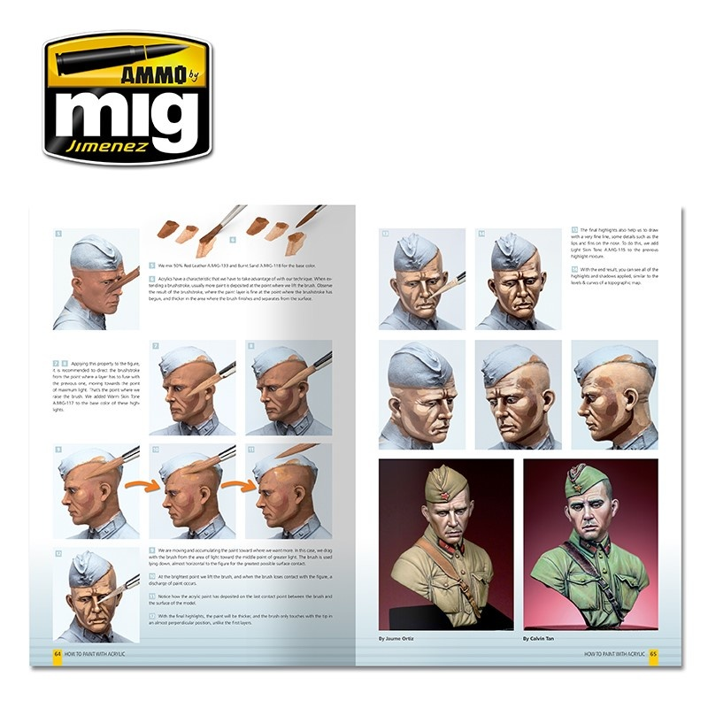 Ammo by Mig Jimenez Modelling Guide: How To Paint With Acrylics English - A.MIG-6040