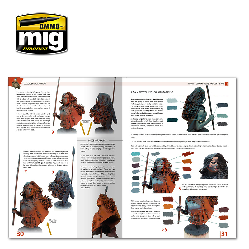 Ammo by Mig Jimenez Encyclopedia Of Figures. Modelling Techniques Vol. 1 - Colour, Shape, And Light English - A.MIG-6221