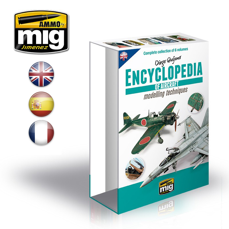 Ammo by Mig Jimenez Case For Encyclopedia Of Aircraft Modelling Techniques English - A.MIG-6049E