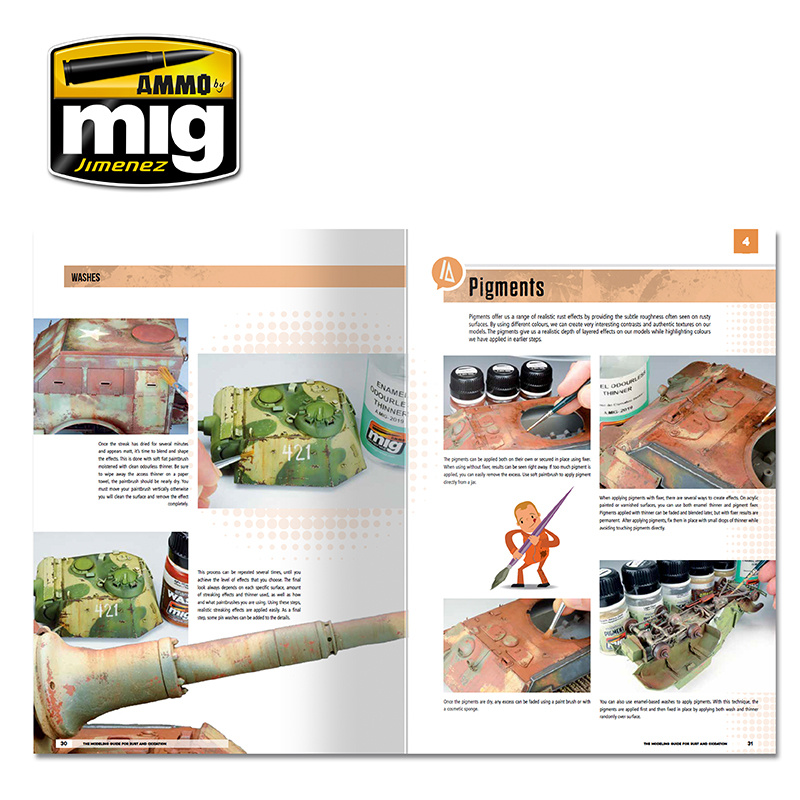 Ammo by Mig Jimenez Modelling School - The Modeling Guide For Rust And Oxidation English - A.MIG-6098