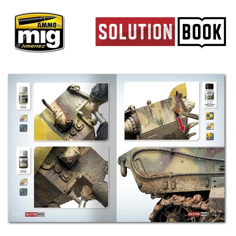 Ammo by Mig Jimenez Solution Book 04 How To Paint WWII German Late - Multilingual Book - A.MIG-6503