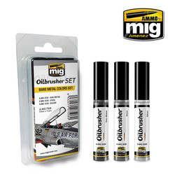 Oilbrushers Bare Metal Colors Set - A.MIG-7508