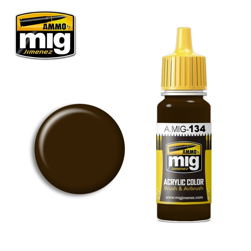 Ammo by Mig Jimenez Burnt Brown Red - 17ml - A.MIG-0134